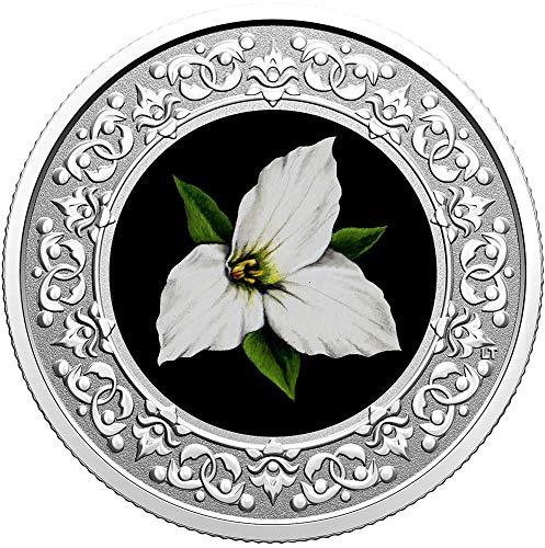 Power Coin White Trillium Canada Moneda Plata 3$ Canada 2020