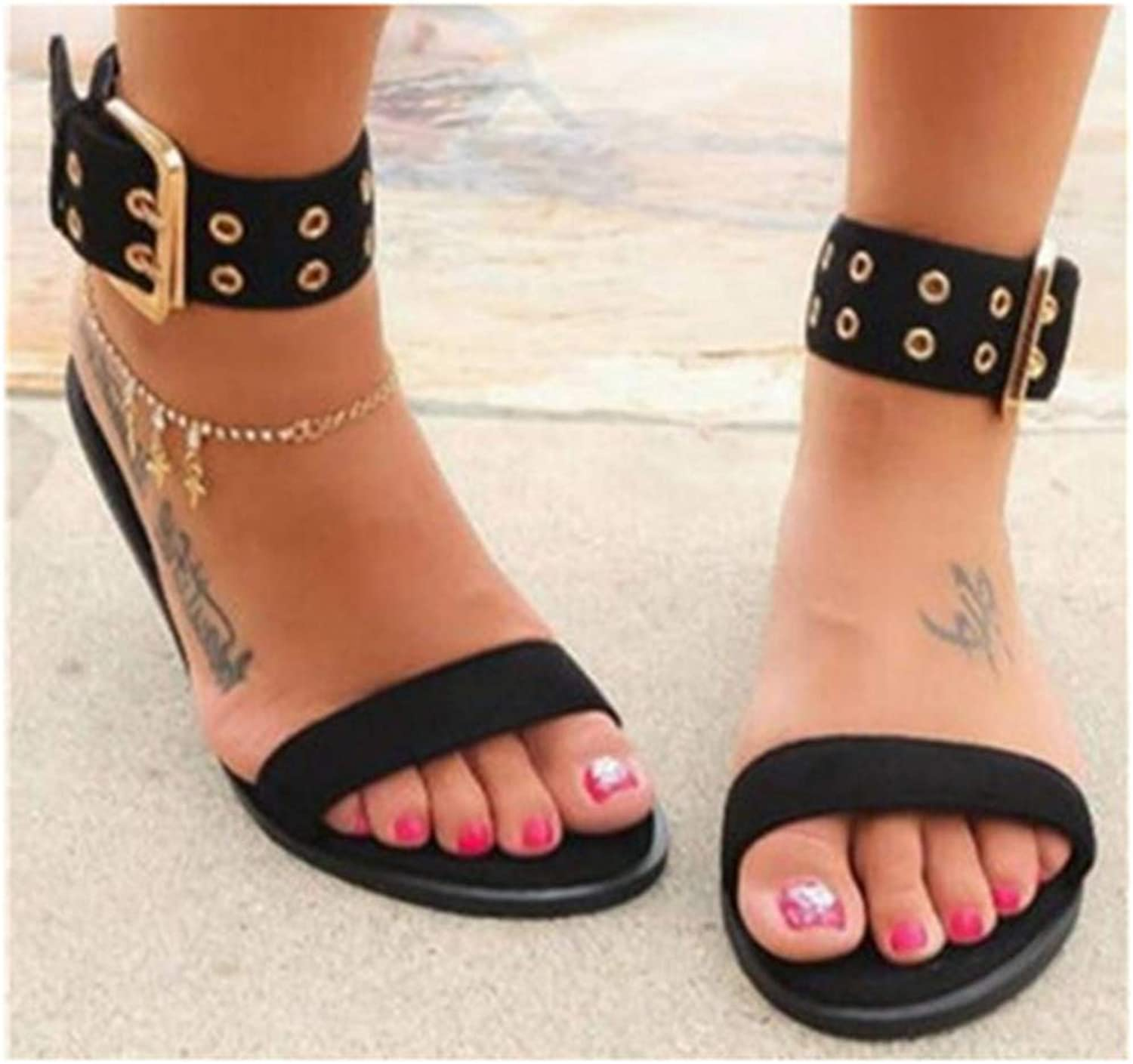 New Women Sandals Transparent Flat Summer Gladiator Open Toe Clear Jelly shoes Ladies Roman Beach Sandals Black