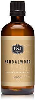 P&J Trading Sandalwood Fragrance Oil for Candle Making, Soap Making, Slime, Diffusers, Home, and Crafts - 100ml