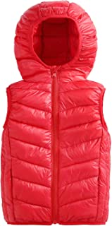 Happy Cherry Baby Puffer Down Vest Hooded Sleeveless Coat Jacket Winter Outerwear