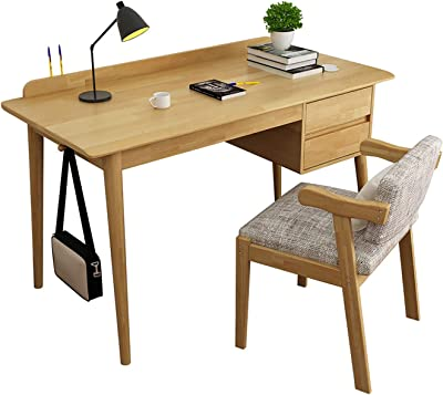 Computer Desk Study Table Storage Drawers Chair Heavy Duty Side Hook Space Saving Modern Simple Style Home Office Workstation