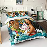 Moana Queen Bedding Set KidsBedding Set Girls Boys Moana Bed Set Duvet Cover Qulit Cover 3Piece Bedding Tollders