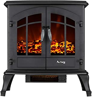 e-Flame USA Jasper Free Standing Electric Fireplace (Black)