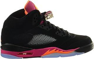 ba0ccb35bf63fe Jordan Girls Air 5 Retro (GS) Big Kids Basketball Shoes Black Bright Citrus