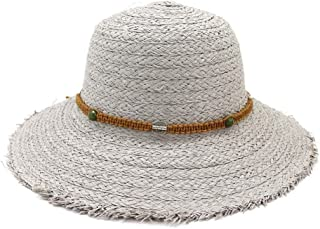 Sun Protection, Breathable, Big Visor, Women Travel Hat, Spring Summer, Hollow Straw Hat, Idyllic Dome Fisherman Hat` TuanTuan (Color : Gray, Size : 56-58CM)