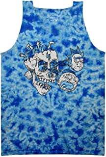Rick and Morty Eyeballs Black and White Adult Tank Top