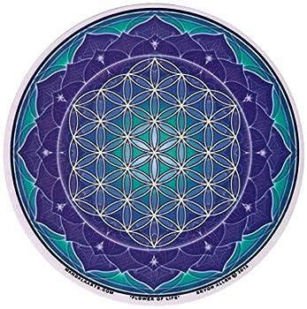 "Mandala Arts Flower of Life - Window Sticker/Decal - Circular 4.5"" Translucent"