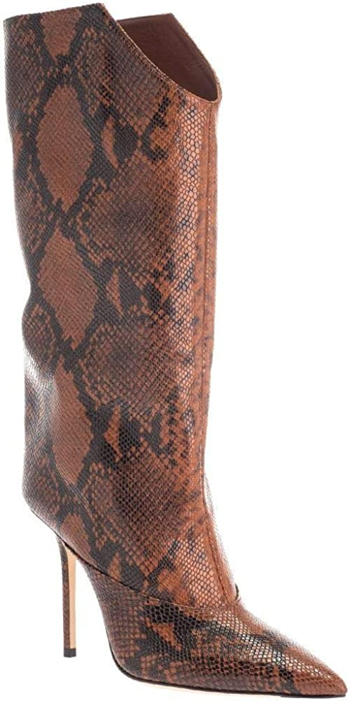 Jimmy choo luxury fashion, stivaletti alti con tacco a spillo per donna,in vera pelle 100% BRYNDIS100NKECUOIO