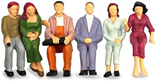 People Figurines M6 6 PCs Model Trains Architectural 1:25 Scale Painted Figures O Scale Sitting Tiny People for Miniature Scenes New