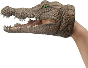 ZONXIE Soft Rubber Realistic Animal Hand Puppets Role Play Toy for Kids and Toddlers (Crocodile)