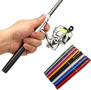 Pen Fishing Rod Reel Combo Set Premium Mini Pocket Collapsible Fishing Pole Kit Telescopic Fishing Rod + Spinning Reel Com...