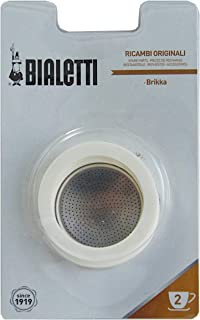 Bialetti - Brikka 2 Cup 3 Gaskets, Filter Plate Blister