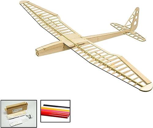 A la venta con descuento del 70%. Aviones RC Glider, DW Hobby Hobby Hobby Sunbird Balsa Modelo de avión de Madera, 1599 mm Wingspan, Kit de Aviones de Modelo controlado por Radio para Construir y Volar para Adultos (F1601B)  Envio gratis en todas las ordenes