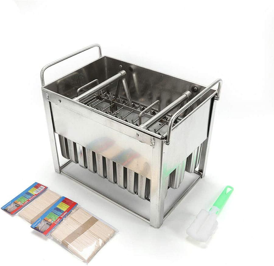 Popular Max 57% OFF Popsicle Frozen Cream Stick Stainless Rack 30X Ste sale Molds