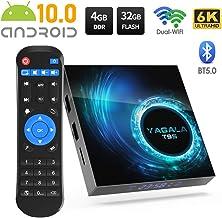 Android 10.0 TV Box, YAGALA T95 Allwinner H616 Quad-Core 64bit Arm Corter-A53 CPU Mali G31 MP2 GPU 6K Output 4GB RAM 32GB ROM 2.4GHz/5GHz WiFi 100M LAN Enternet BT5.0