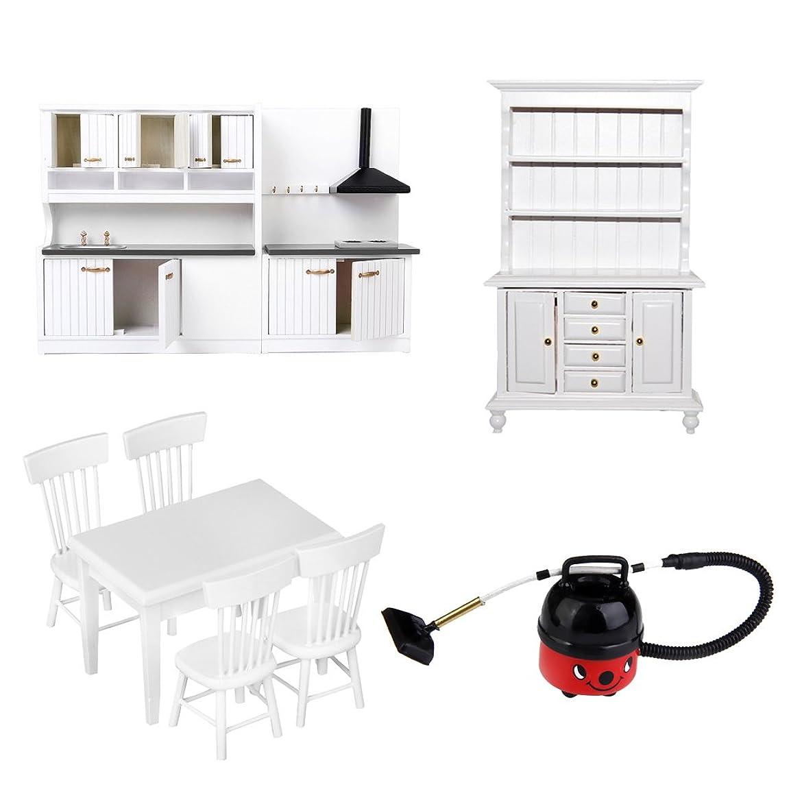 アルプスシェルセンブランスSM SunniMix キッチン 家具モデル キャビネット テーブル チェア 本棚 1/12ドールハウス 飾り 木製