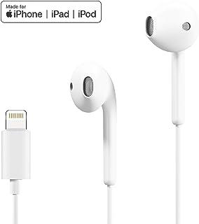 iPhone イヤホン Lightning イヤフォン ライトニング ヘッドホン アイフォン ヘッドフォン マイク リモートコントロール付き MFi認証取得済み iPhone X/XS/Xs Max/XR iPhone 8/Plus iPhone 7/Plusに対応 In-Ear インイヤー式 ROVIIS R1 ホワイト