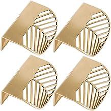 4 stks Blad Vorm Messing Gouden Kast Trekt Meubelgrepen Keuken Deur Handvat Koperen Lade Pull Knoppen