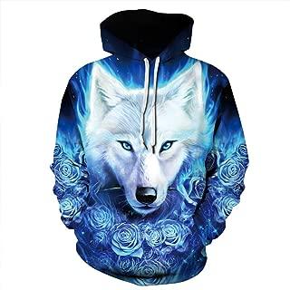 Best wolf hoodie men Reviews