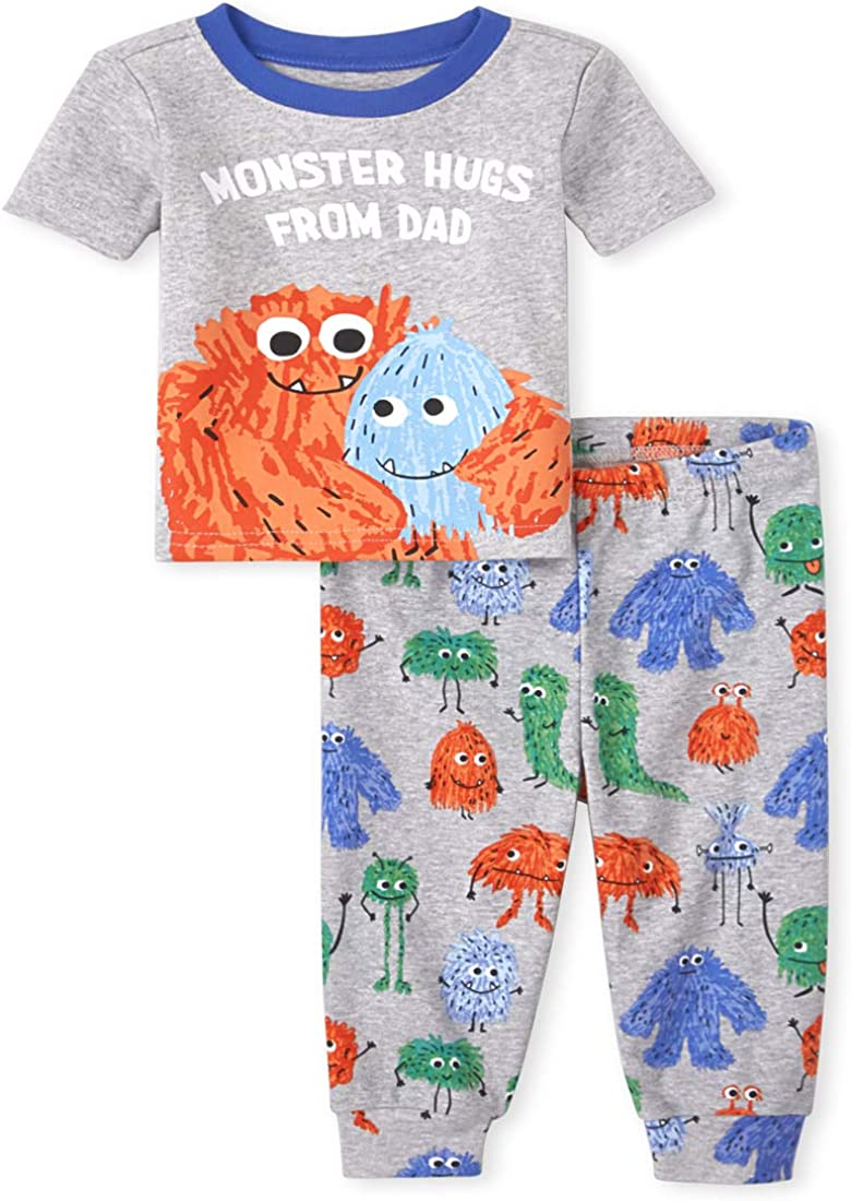 The Children's Place Baby And Toddler Boys Monster Hugs Snug Fit Cotton Pajamas