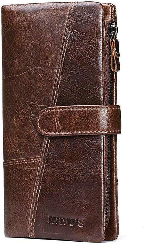 ACHKL Women Genuine Leather 19 Card Slots Long Wallet Phone Bag Coin Purse ACHKL (color   color Brown, Size   OneSize)