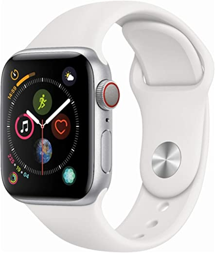 Apple Watch Series 4 (GPS + Cellular) (Renewed) (Black Sport, 44mm)