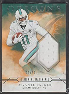 2016 Origins DeVante Parker Dolphins 20/30 Game Used Jersey Football Card #8
