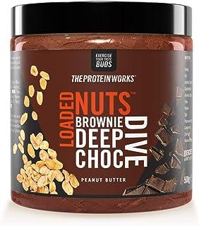 Loaded Nuts Crema De Cacahuete| Crema De Cacahuete Con Chocolate Premium Sin Aceite De Palma, Fuente De Proteínas | THE PROTEIN WORKS, Brownie Deep Choc Dive, 500 g