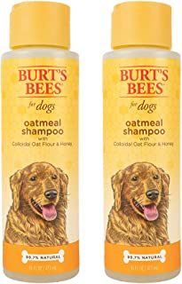 Burt's Bees for Pets All Natural Oatmeal Shampoo for Dogs   Made with Colloidal Oat Flour and Honey   Moisturizing Oatmeal...
