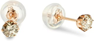 [D-COLLECTION] D-COLLECTION 18 K粉金钻石耳钉 0.3ct【附带专用BOX】 DVTFN30PGD