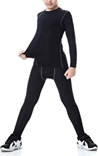 LANBAOSI Long Sleeve Compression Shirts and Pant 2 Pcs Set