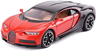 Model Car Bugatti Supercar 1,32 Simulation Die Casting Alloy Static Toy Car Model (Color, Black),Red (Color : Red, Size : ...