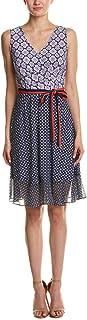 Donna Morgan Women's Wrap Front Dress with Combo Peplum Skirt