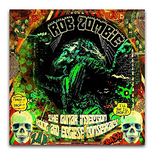 WPQL Rob Zombie (The Lunar Injection Kool Aid Eclipse Conspiracy) 2020 Álbum Cover40 x 40 cm