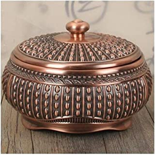 GAOTING Ashtray/ashtray can accommodate multi-functional living room home decoration (Color : Gold, Size : B-14 * 7cm)
