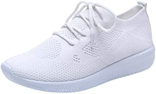Womenss Mesh Breathable Sport Sneakers ❀ Ladies Fashion Solid Outdoor Flat Student Running Shoes Sport Shoes