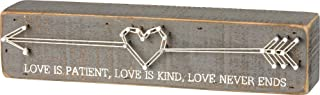 Primitives by Kathy String Box Sign Love Is Home and Office Decor