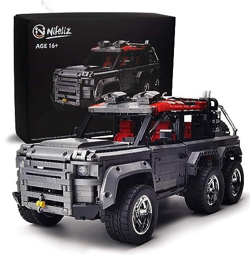 2021 Nifeliz online sale Off-Road Pickup Rove 6X6 MOC Building Kit, 1:9 Scale wholesale Truck Model (3288 Pieces) sale