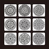 9 Plantillas/Conjuntos de diseño, moldes para el álbum de Pintura de Suelo de baldosas (Cor : S)