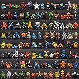 144 Pièces Pikachu Poupées Pokémon Pikachu Gâteau Topper Mini Figurine Jouets et...