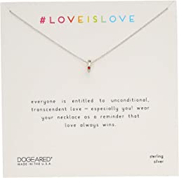 Love Is Love, Teeny Ring With Rainbow Crystal Necklace