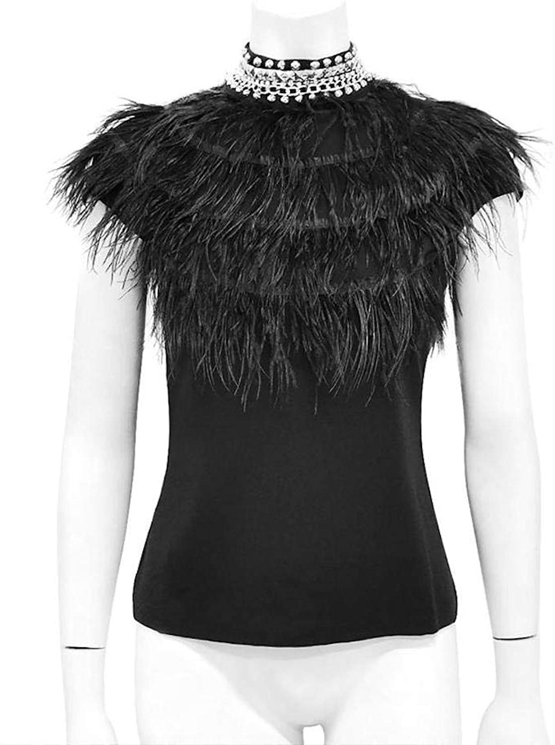 Gracia Feather and Bead Detail Top