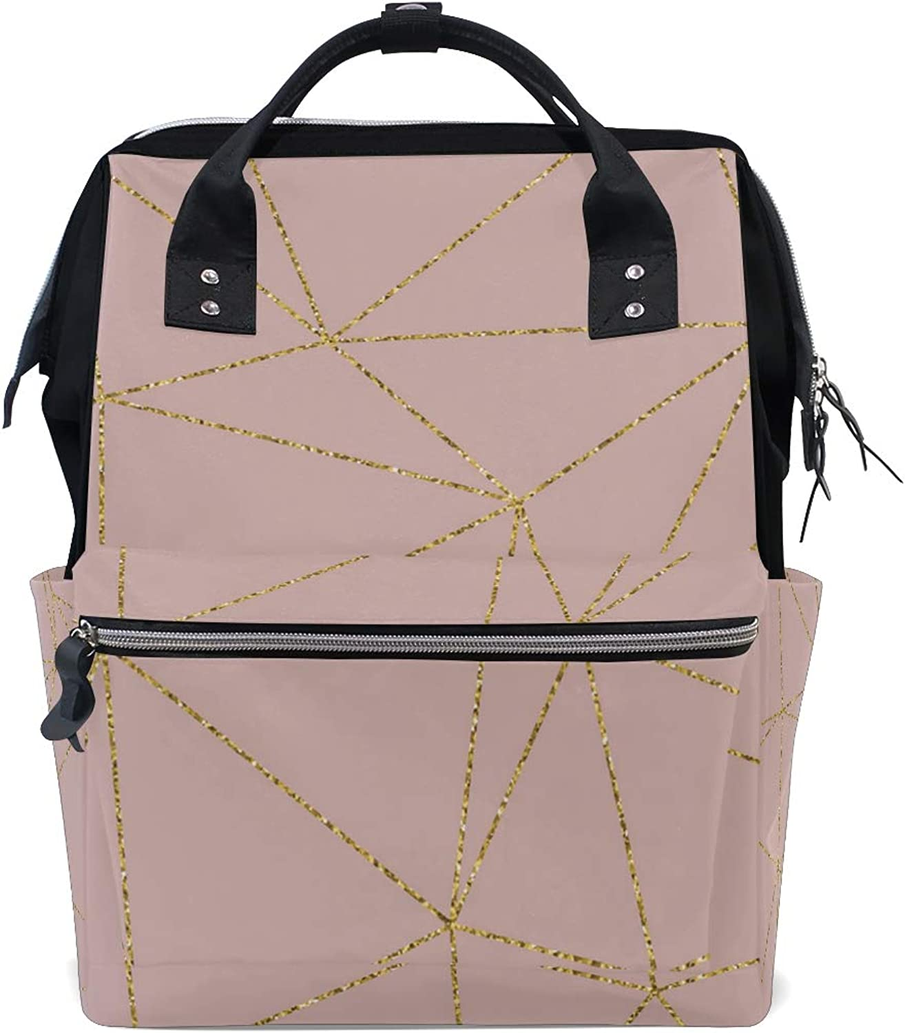 Pink is Very Noble Leisure College Backpack Light Travel Male and Female Student Backpack Lightweight Canvas Backpack Medium Handbag Fashion Style Multifunction
