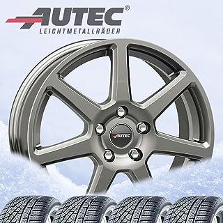 4 Winter complete wielen Tallin 7,5x17 ET 35 5x114,3 titanium zilver met 215/60 R17 96H Michelin Alpin 6 M+S 3PMSF