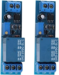 NE555 Relay Module, 2 Pcs 5V Time Delay Relay Module, with Relay Pull-in Indicator for Ac 220V/10A Equipment