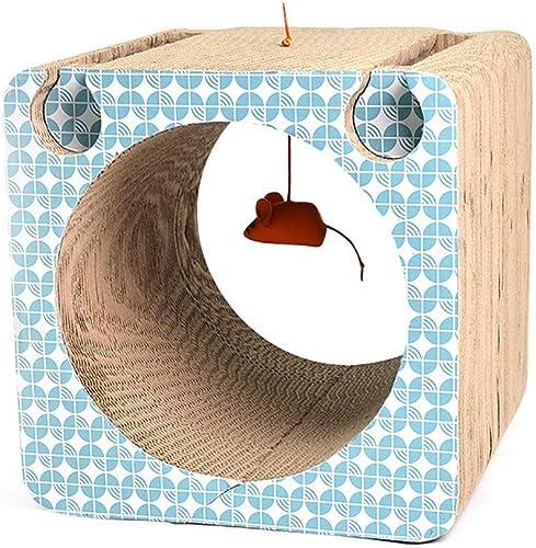 Jouet Chat Maison Chat Chat Grattoir Chat Amusant Chat Bell Boule Jumping Table Ondulé Papier Grand Chat Planche à Gratter Décoration De La Maison Chat Griffe Soins Grattant DivertisseHommest 32.5  30.5