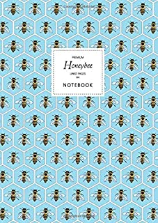 Honeybee Notebook - Lined Pages - A4 - Premium: (Blue Edition) Fun notebook 192 lined pages (A4 / 8.27x11.69 inches / 21x2...