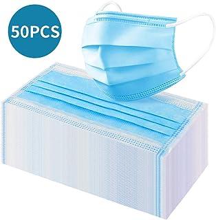 Pretty See 50Pcs Tamaño de Cara Libre desechable Azul 3-PLY