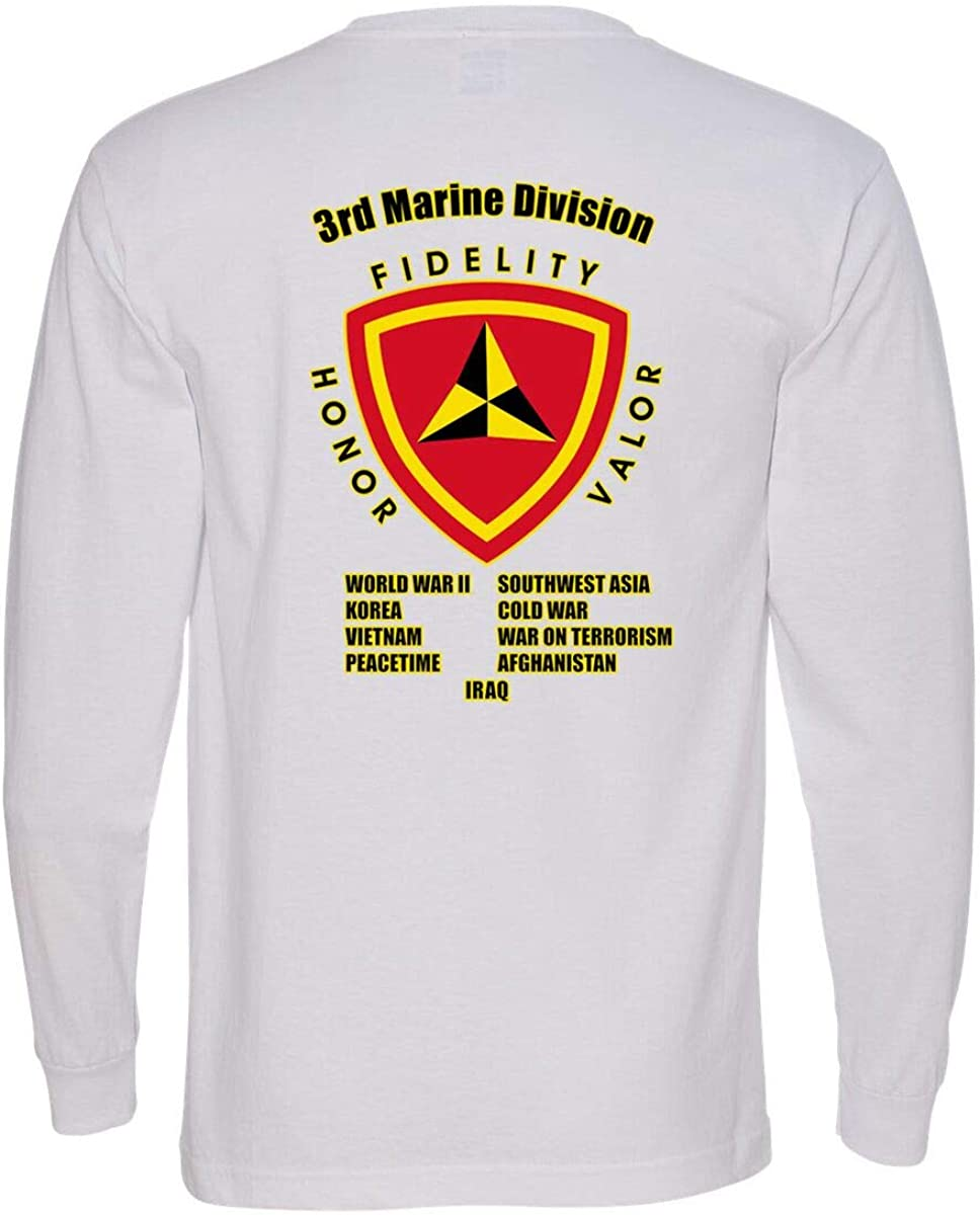 3rd Marine Austin Mall Division 2021 spring and summer new Campaign Sleeve Long T-Shirt