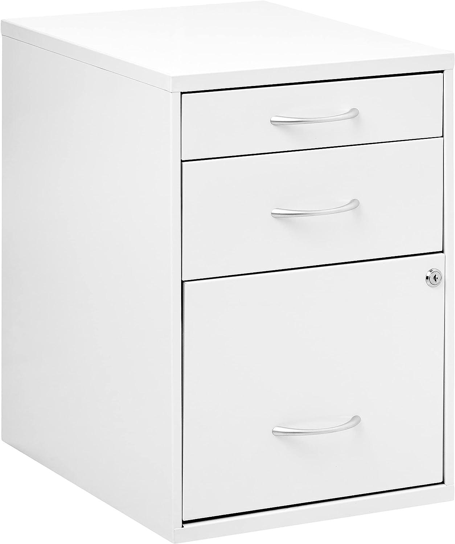free shipping OSP Home Furnishings 3-Drawer Metal Finish Cabinet Ranking TOP7 White File